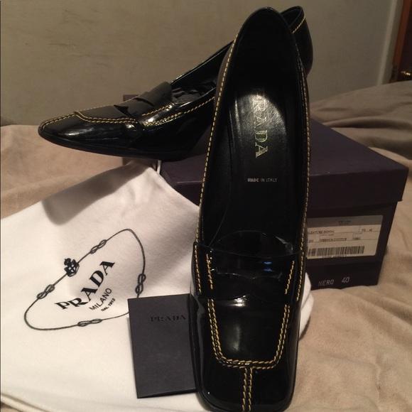 Prada scarpe   Calzature Donna Donna Donna Vernice Patent   Poshmark 96cb8e